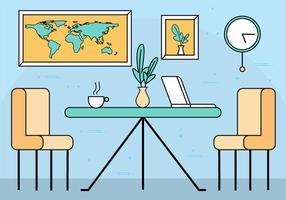 Illustration de chambre Vector Design plat gratuit
