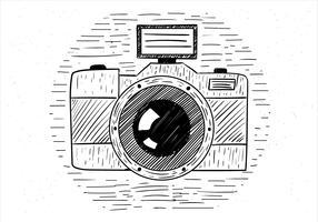 Illustration d'appareil photo vecteur dessinés à la main