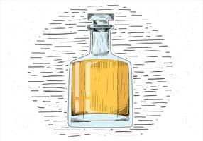 Whisky de vecteur dessiné à la main