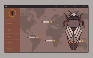 Cicada Insect Modèle de site Web Aperçu vecteur