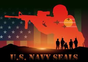 Navy Seals des États-Unis vecteur