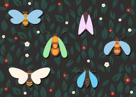 Ensemble de Cicada colorée vecteur