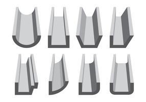 Ensemble d'icônes de gouttière vecteur