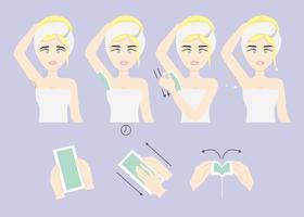 Épilation à la cire vecteur de cheveux aisselles