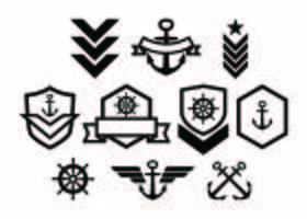 Vecteur gratuit de collection de Badge de l'armée