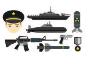 Icône de jeu de joints de marine vecteur