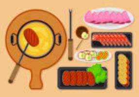 Illustration du concept de fondue