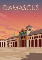 Affiche de vecteur de Damas