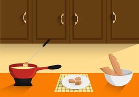 Cuisson fondue vecteur libre
