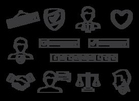 Vecteur d'icônes d'intégrité