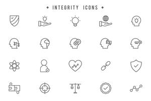 Vecteurs d'intégrité gratuits vecteur