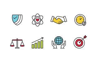 Pack d'icônes de responsabilité sociale vecteur