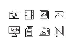 Pack d'icônes de photographie vecteur
