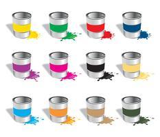 Vecteurs de collection de pots de peinture vecteur