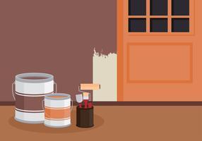 Pot de peinture vecteur libre
