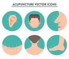 Icônes vectorielles d'acupuncture vecteur