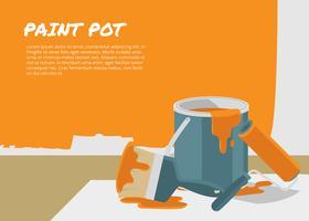 Modèle de pot de peinture vecteur libre