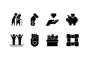 Gentillesse définie icône vector