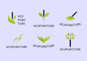 jeu de logo d'acupuncteur vecteur