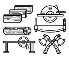 Icônes vectorielles de bûcheron vecteur