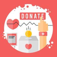 Vecteurs de charité uniques gratuits vecteur