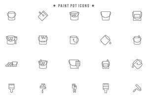 Vecteurs de pots de peinture gratuits vecteur
