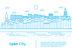 Vecteur de la ville de Lyon