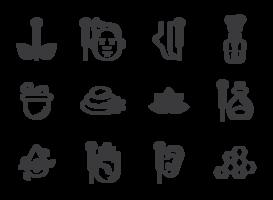 Vecteur d'icônes d'acupuncture