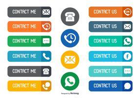 Contact Collection de boutons de vecteur