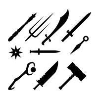 Gratuit Silhouette Silhouette Weapon Icon Vector
