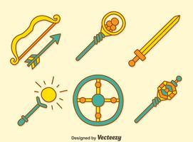 Vecteurs d'armes médiévales vecteur