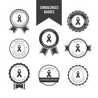 Vecteur de badges de condoléances