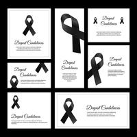 Vecteur de carte de condoléances