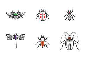Icône de contour des insectes vecteur
