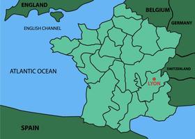Carte de Lyon City