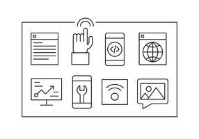 Icônes Web linéaires gratuits vecteur