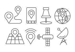 Icônes de navigation linéaire gratuit vecteur