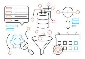 Web linéaire et éléments commerciaux vecteur