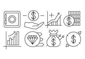 Finances linéaires et éléments vectoriels bancaires vecteur