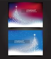 Vecteurs de carte d'arbre de Noël Stardust