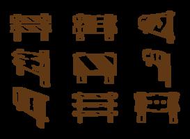 Vecteurs de garde-corps dessinés à la main vecteur