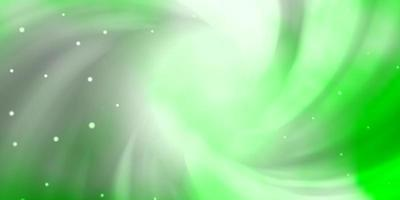 modèle vert clair avec des étoiles au néon.