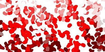 fond rouge clair avec des formes aléatoires.