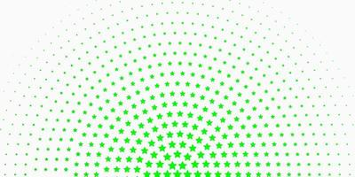 fond vert clair avec de petites et grandes étoiles.