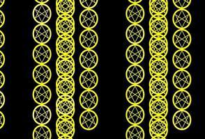modèle jaune foncé avec des signes ésotériques. vecteur