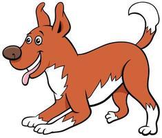 personnage de dessin animé chien ludique animal de compagnie