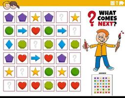 remplir le jeu éducatif de modèle pour les enfants vecteur