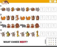 jeu de motifs éducatif pour enfants avec des animaux vecteur