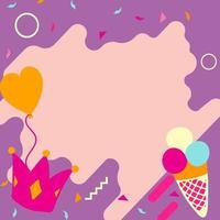 éléments de cartes d'anniversaire et de fête vecteur