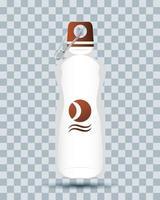 icône de maquette de marque de bouteille deau